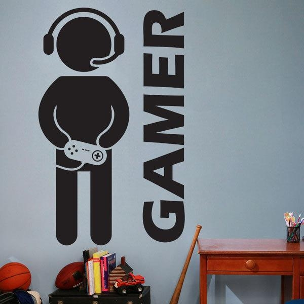 Video Game Gaming Gamer Wall Decal Art Decor Sticker Vinyl Wall Within Video Game Wall Art (Image 15 of 20)