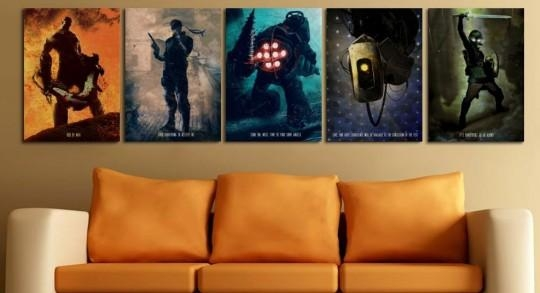Video Game Metal Artworks Will Look Fantastic On Your Wall | Video Pertaining To Video Game Wall Art (Image 16 of 20)