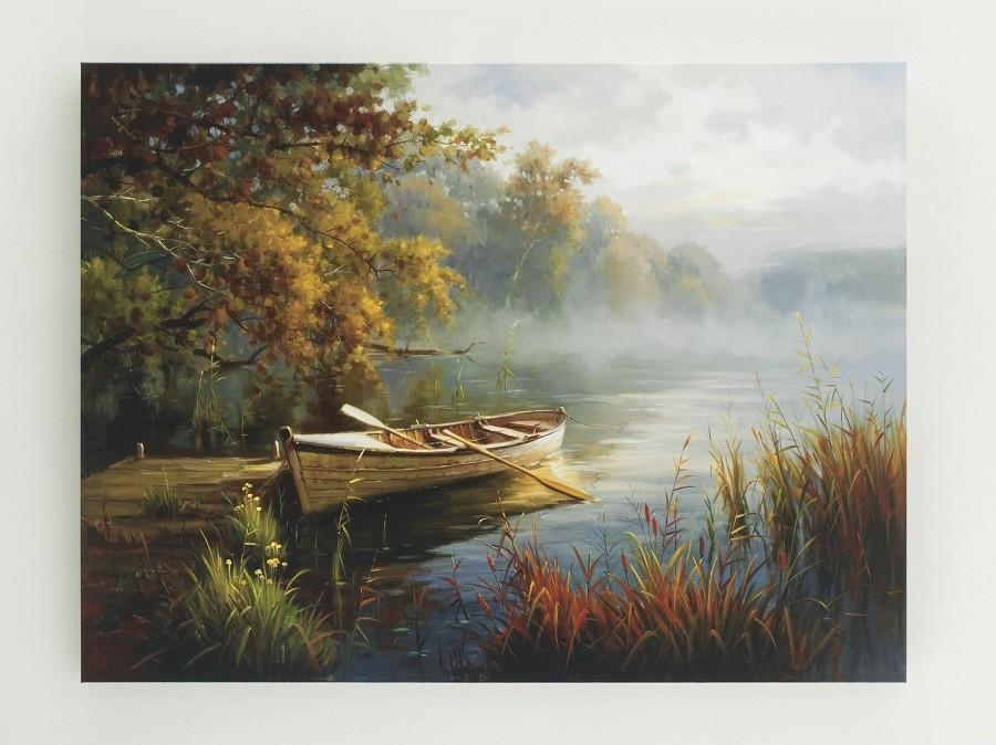 Vintage Casual Row Boat Wall Art – Waterscape – Sam Levitz Furniture Inside Boat Wall Art (View 13 of 20)