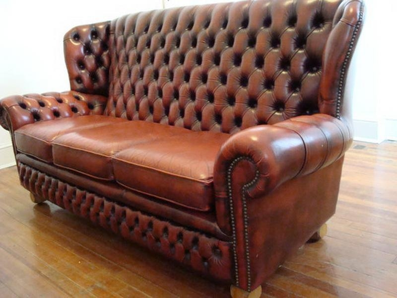Vintage Chesterfield Sofa Leather — Flapjack Design : Antique Within Craigslist Chesterfield Sofas (Image 20 of 20)
