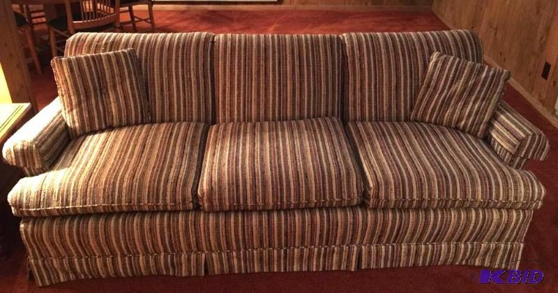 Vintage Clayton Marcus Sofa And Accent Pillows – Earth Tone Regarding Clayton Marcus Sofas (Image 20 of 20)