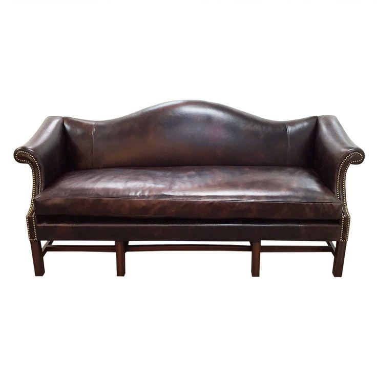 Vintage Leather Camel Back Sofa Http://www.reboundstores Inside Camelback Leather Sofas (Photo 17 of 20)
