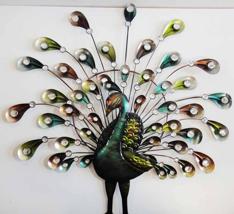 Vintage Metal Peacock Wall Decor Awesome Peacock Metal Wall Art With Metal Peacock Wall Art (Photo 3 of 20)