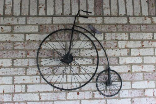Vintage Penny Farthing Decorative Wall Art Bike Bicycle | Penny In Bicycle Metal Wall Art (View 19 of 20)