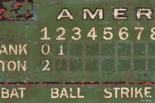 Vintage Scoreboard  Baseballoopsy Daisy With Vintage Baseball Wall Art (Image 18 of 20)