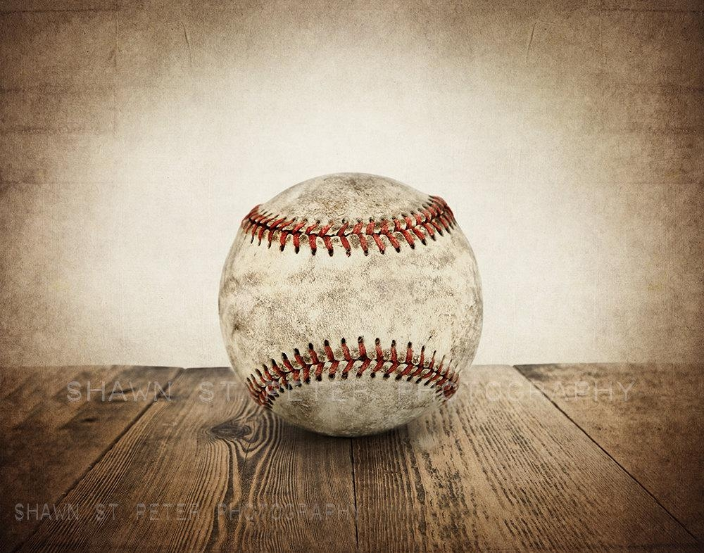 20 Inspirations Vintage Baseball Wall Art | Wall Art Ideas