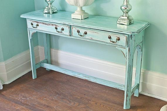 Vintage Sofa Table Furniture With Design Ideas Regarding Shabby Chic Sofa Tables (View 4 of 20)