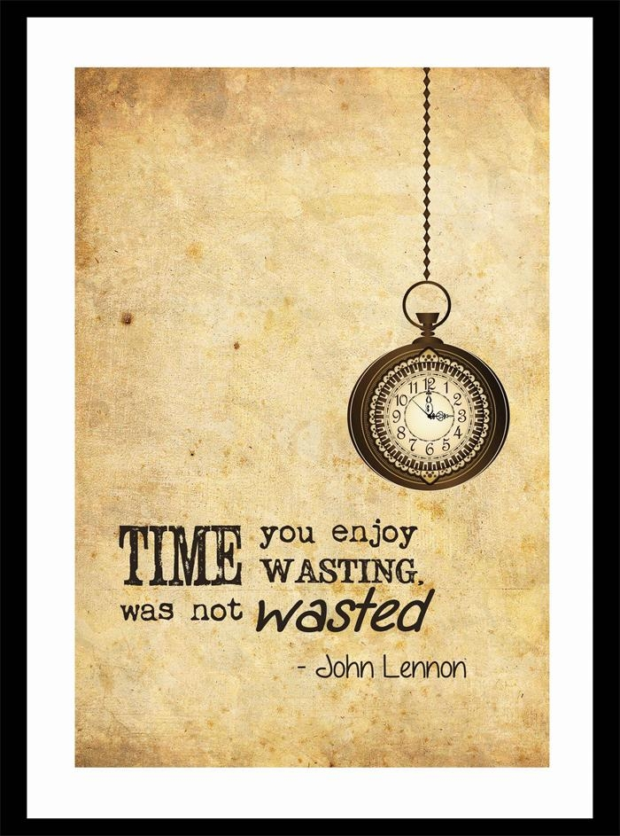 Vintage Style Wall Art Print – John Lennon Quote – Time | Jack Of Regarding Vintage Style Wall Art (View 3 of 20)