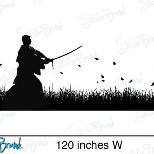 Vinyl Wall Art Decal Sticker Samurai Swordsman In Field Regarding Samurai Wall Art (Image 20 of 20)