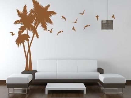 Vinyl Wall Art Decals Palm Tree Wall Mural Graphic | Vinylwallart Inside Vinyl Wall Art Tree (View 15 of 20)