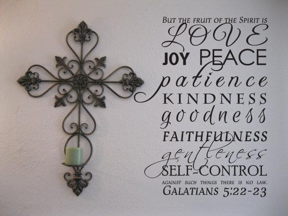 Vinyl Wall Art The Fruit Of The Spirit Intended For Fruit Of The Spirit Wall Art (Image 20 of 20)
