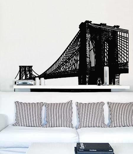 Vinyl Wall Decal Sticker Brooklyn Bridge New York Item Throughout Brooklyn Bridge Wall Decals (Image 18 of 20)