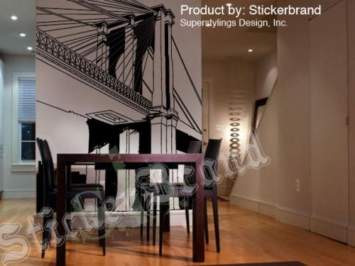 Vinyl Wall Decal Sticker Nyc Brooklyn Bridge New York In Brooklyn Bridge Wall Decals (Image 20 of 20)