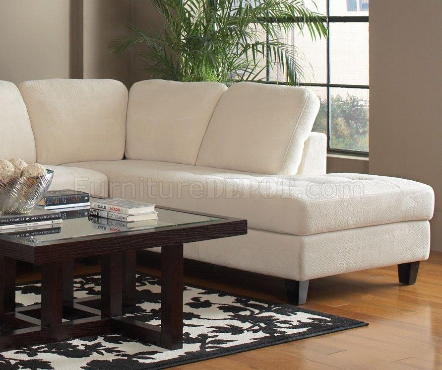 Walker Sectional Sofacoaster In Off White Fabric Intended For Coaster Sectional Sofas (Image 20 of 20)