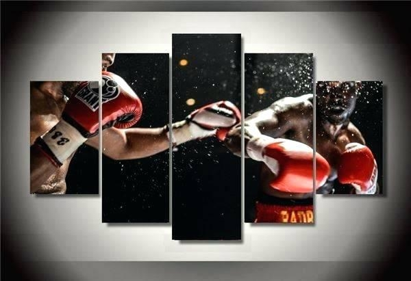 Wall Art ~ 2017 New Cuadros Decoracion Wall Art Framed Boxing Intended For Matching Wall Art Set (Image 9 of 20)