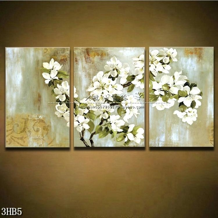Wall Art ~ 3 Piece Canvas Art Cheap Canvas 3 Piece Wall Art Canada Throughout 3 Piece Floral Canvas Wall Art (Image 19 of 20)