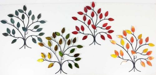 Wall Art – 4 Seasons Tree Branch Set For Metal Wall Art Trees And Branches (Image 17 of 20)