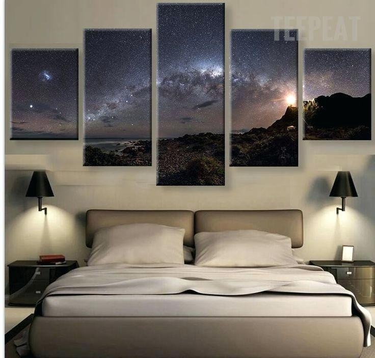 Wall Art ~ 7 Piece Canvas Wall Art Stars Of The Milky Way Galaxy 5 With Regard To 7 Piece Canvas Wall Art (Image 15 of 20)