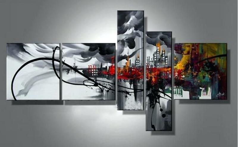 Wall Art ~ 7 Piece Canvas Wall Art Target Original Abstract Regarding 7 Piece Canvas Wall Art (Image 16 of 20)