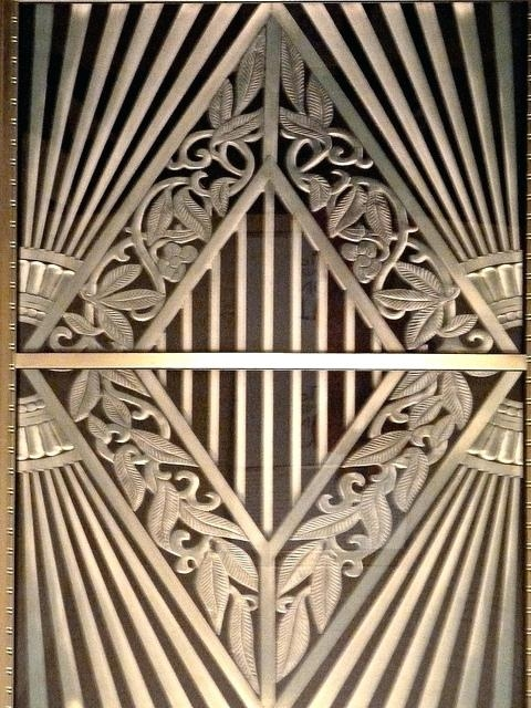 Wall Art ~ Art Deco Wall Light Metal Strasbourg Art10 Art Deco With Art Deco Metal Wall Art (Image 17 of 20)