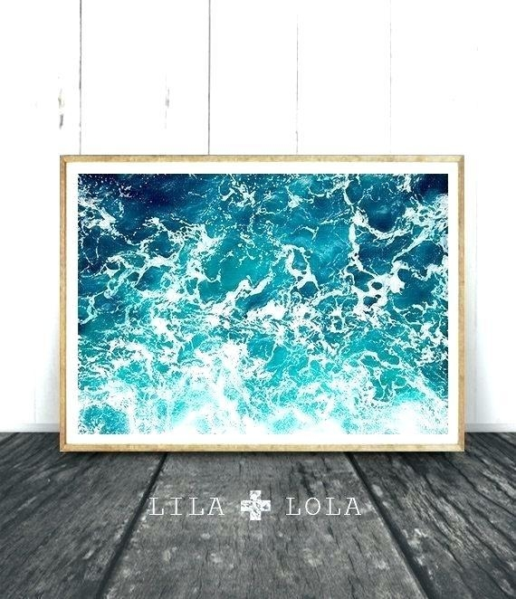 Wall Art ~ Beach Decor Canvas Art Coastal Decor Beach Nautical With Seaside Metal Wall Art (View 20 of 20)