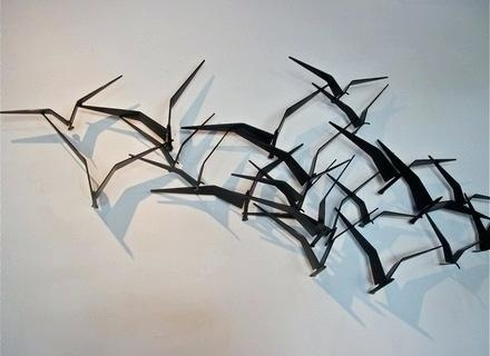 Wall Art ~ Bird Metal Wall Art Uk Silver Metal Birds Wall Art Within Birds In Flight Metal Wall Art (Image 18 of 20)