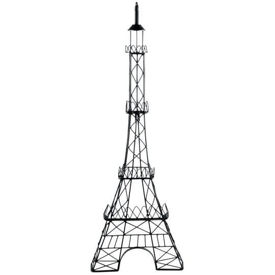 Wall Art ~ Black Metal Eiffel Tower Wall Decor With Gemstones Within Eiffel Tower Wall Hanging Art (Image 15 of 20)
