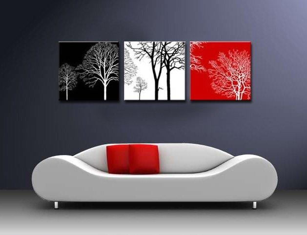 Wall Art Black | Wallartideas Throughout Black And White Wall Art With Red (Image 20 of 20)