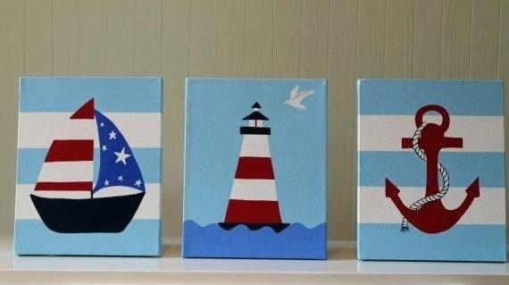 Wall Art ~ Boat Wall Art Large Metal Sailboat Wall Art Sailboat Pertaining To Boat Wall Art (View 20 of 20)