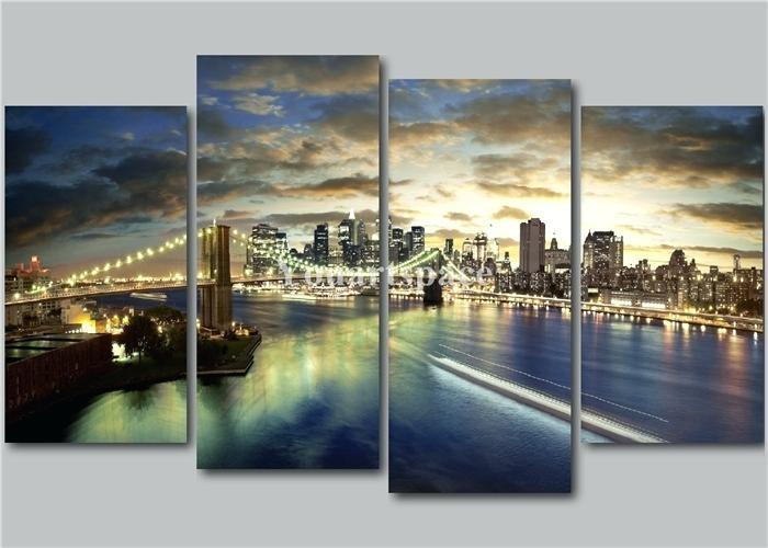 Wall Art ~ Brooklyn Bridge Framed Wall Art New York Brooklyn For Brooklyn Bridge Metal Wall Art (View 13 of 20)