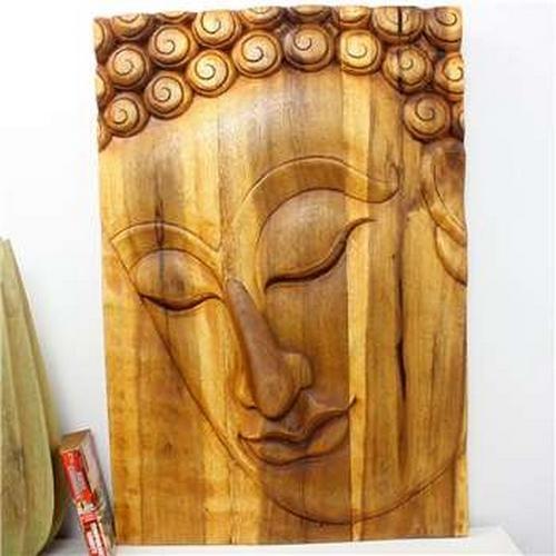 Wall Art Buddha Pacceka Wood Panel|Asian Wall Decor|Kan Thai Decor Pertaining To Buddha Wood Wall Art (Image 11 of 20)