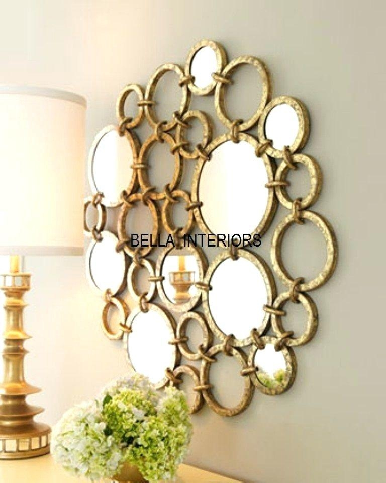 Wall Art ~ Circle Mirror Wall Art Small Round Mirror Wall Art Pertaining To Small Round Mirrors Wall Art (Image 10 of 20)