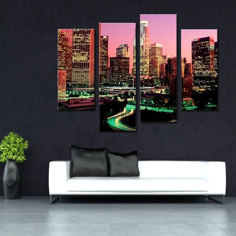 Wall Art City Los Angeles Promotion Shop For Promotional Wall Art For Los Angeles Wall Art (Image 18 of 20)