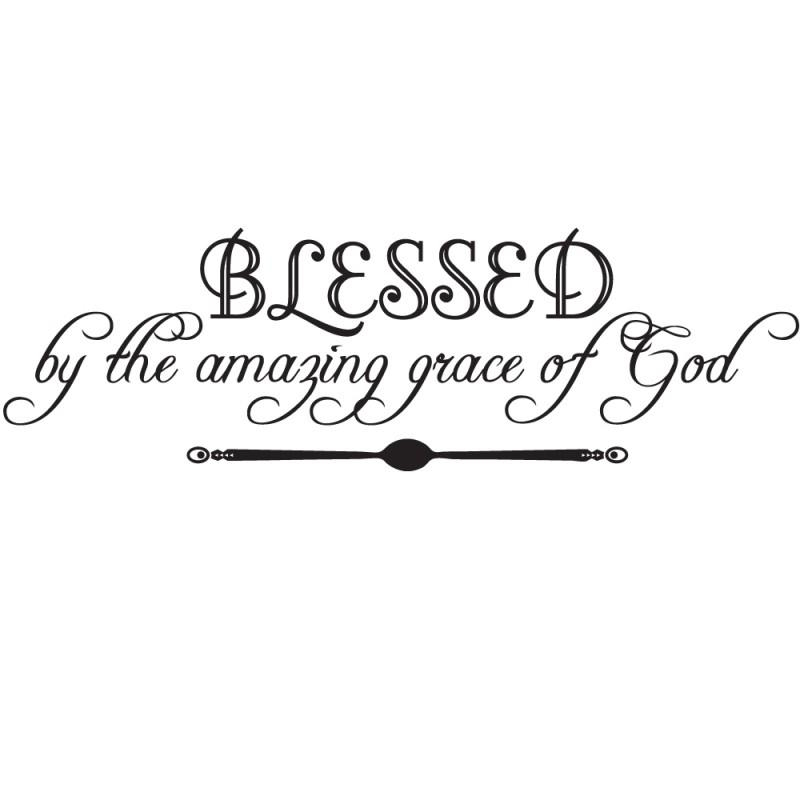 Wall Art, Decal Decor | Blessedthe Amazing Grace Of God Throughout Grace Wall Art (View 17 of 20)