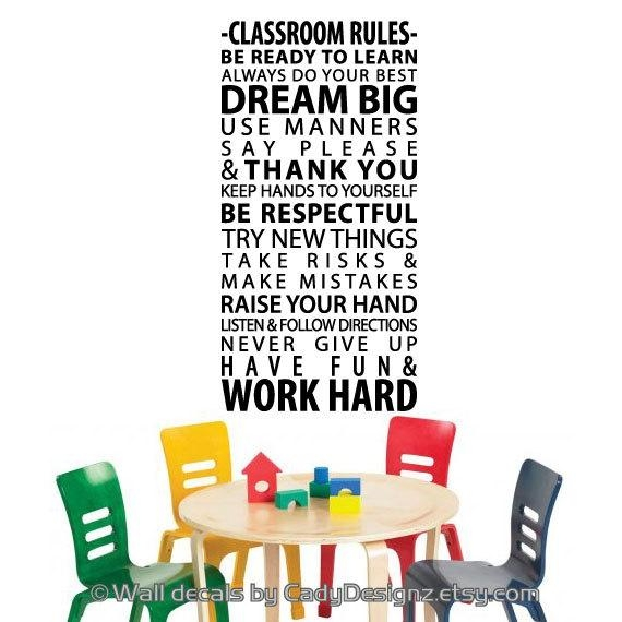 Wall Art Decals For Classrooms ~ Color The Walls Of Your House Intended For Classroom Vinyl Wall Art (Image 18 of 20)