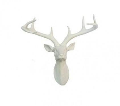 Wall Art Decor Ideas: Handmade Stag Head Wall Art Vintage Goods For Stag Head Wall Art (Image 17 of 20)