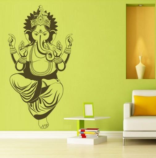 Wall Art Decor Ideas: Oriental Modern Ganesh Wall Art Contemporary Regarding Ganesh Wall Art (Image 20 of 20)