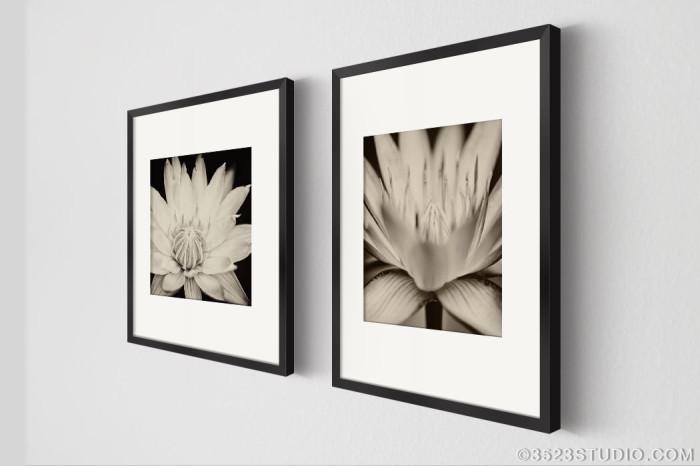 Wall Art Decor: Lotus Flower Matching Wall Art Square Wooden Inside Matching Wall Art (Image 19 of 20)