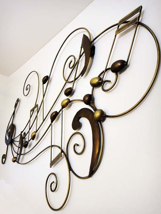 Wall Art Decor: Magnificent Design Music Metal Wall Art Iron For Metal Music Notes Wall Art (Image 20 of 20)