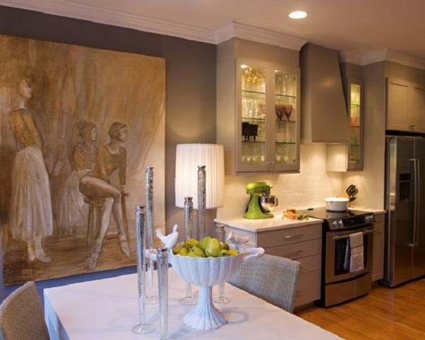 Wall Art Decor: Scale White Large Wall Art For Kitchen Lighting With Regard To Large Wall Art For Kitchen (Image 20 of 20)