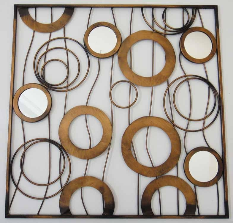 Wall Art Decor: Smaller Product Metal Wall Art Mirrors Inside Wall Art Mirrors Contemporary (View 11 of 20)