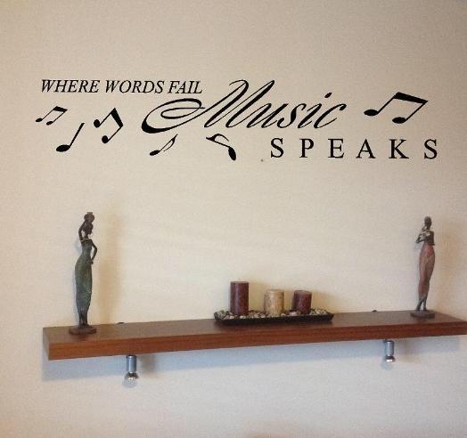 Wall Art Decor: Vinyl Wall Art Music Notes, Vinyl Wall Art Music Inside Music Note Art For Walls (Image 19 of 20)