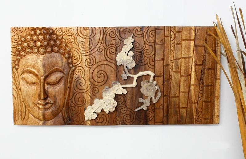 Wall Art Decorating Ideas Interior: Buddha Home Decor Within Buddha Wood Wall Art (Image 12 of 20)