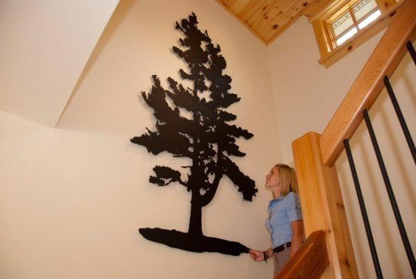 Wall Art Design Ideas: Awesome Metal Pine Tree Wall Art 77 About With Regard To Pine Tree Metal Wall Art (View 11 of 20)