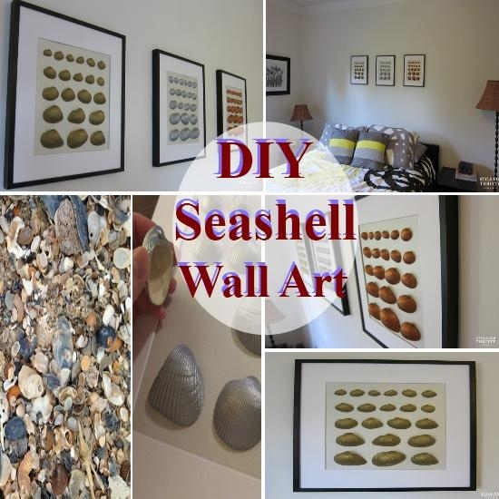 Wall Art Design Ideas: Awesome Wall Art With Seashells 42 About For Stretched Fabric Wall Art (Image 19 of 20)