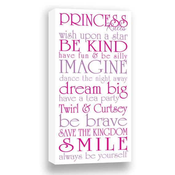 Wall Art Design Ideas: Dream Big Princess Wall Art Canvas Within Princess Canvas Wall Art (Image 19 of 20)