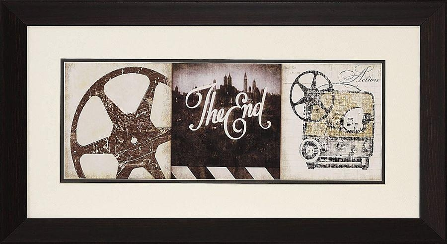 Wall Art Design Ideas: End Framed Cinema Wall Art Theater Throughout Vintage Style Wall Art (View 8 of 20)