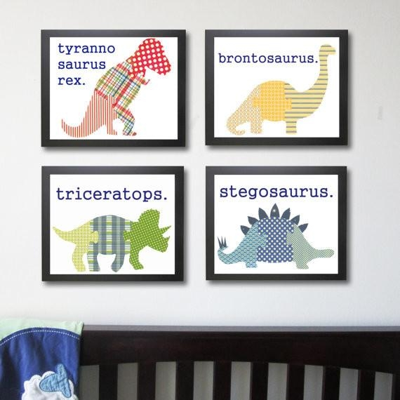 Wall Art Design Ideas: Kids Dinosaur Wall Art Suitable For School Within Dinosaur Wall Art For Kids (View 2 of 20)