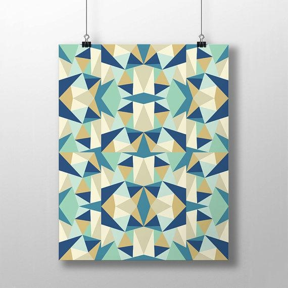 Wall Art Design Ideas: Modern Colorful Kaleidoscope Wall Art With Regard To Kaleidoscope Wall Art (View 4 of 20)