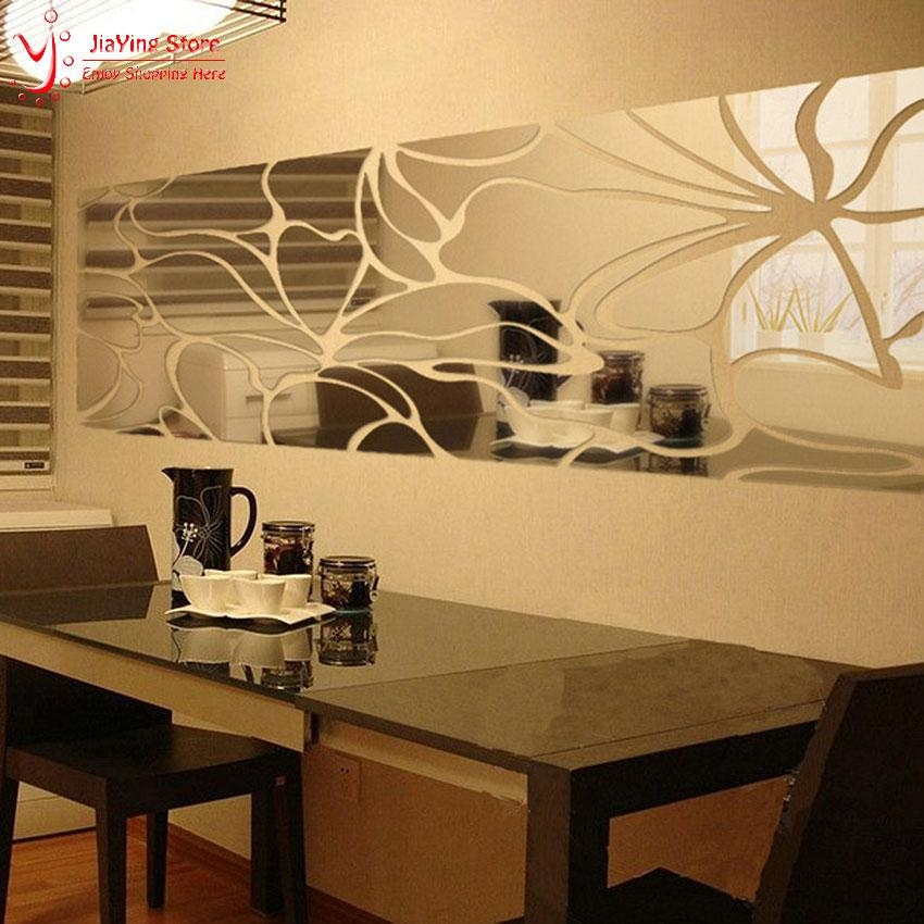 Wall Art Design Ideas: Modern Luxury 3D Mirror Wall Art Intended For Wall Art Mirrors Contemporary (Image 13 of 20)